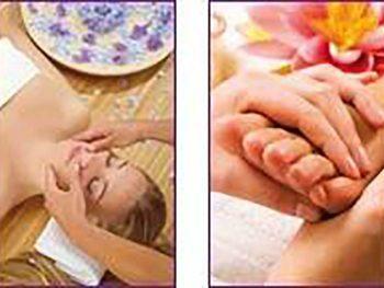 Massage des extrémités de 40 mn, visage et pieds
